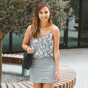 Wish list grey skirt nwt